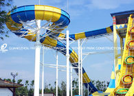 Giant Aqua Park Equipment Exciting Swwiming Pool Fiberglass Waterslides For Kids