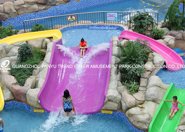 চীন Fiberglass kids residential pool slide for water play / children water slides কারখানা