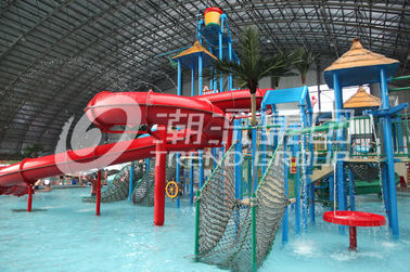 চীন Customized Children Water Slides Amusement Park Games With Galvanized Steel Support কারখানা