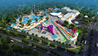 চীন Large Holiday Waterpark Project , Indoor Amazing Funny Water Park / Customized water slide কারখানা
