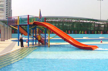 চীন Mini Water Park Equipment Fiberglass Swimming Pool Slide For Kids Playground কারখানা